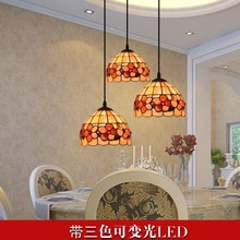 Mediterranean shell fish flower pendant light restaurant Tiffany bar dining room hanging lighting(China)