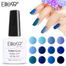 Elite99 HOT SALE 36COLORS Full Set Blue Gel Nail Polish Nail Art Kits Nail Gel Polish UV LED Soak-Off Primer Series Lak Lacquer(China)