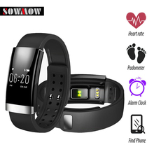 SOWMOW MS01  Heart Rate Monitor Pulse Calorie burned Bracelet Smart Wristband water proof IP65 for IOS  Android Smartband