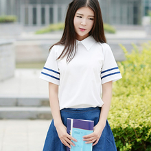 ROLECOS British Navy in Japan and South Korea Campus Uniforms Class Service Girl JK Cosplay Student Uniform Denim Skirt Suit