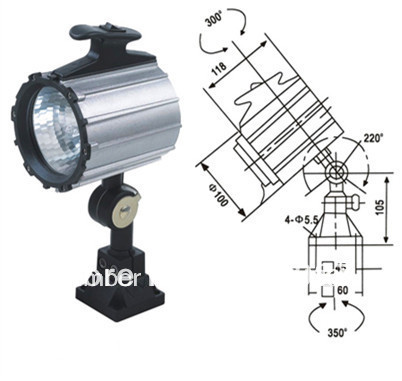 Short Arm machine tool  lamp , work lamp 24V/12V/36V/220V 50W  halogen CNC Machine lamp <br>