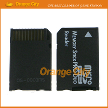 50pcs/lot high quality New Micro SD SDHC TF to Memory Stick MS Pro Duo Reader for PSP Adapter Converter(China)