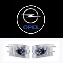 2x Car LED Door Warning Light Welcome Logo Projector For Opel Insignia 2008 2009 2010 2011 2012 2013 2014 2015 2016
