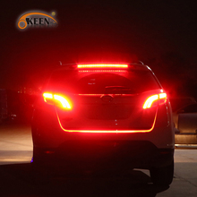 OKEEN red blue led trunk strip Flowing Rear Trunk Light Dynamic Streamer Brake Turn Signal Reverse Warning Flash Lights 120cm(China)