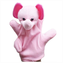 New Cute Baby Child Zoo Farm Animal Hand Sock Glove Puppet Finger Sack Plush Toy NewModel:Elephant(China)
