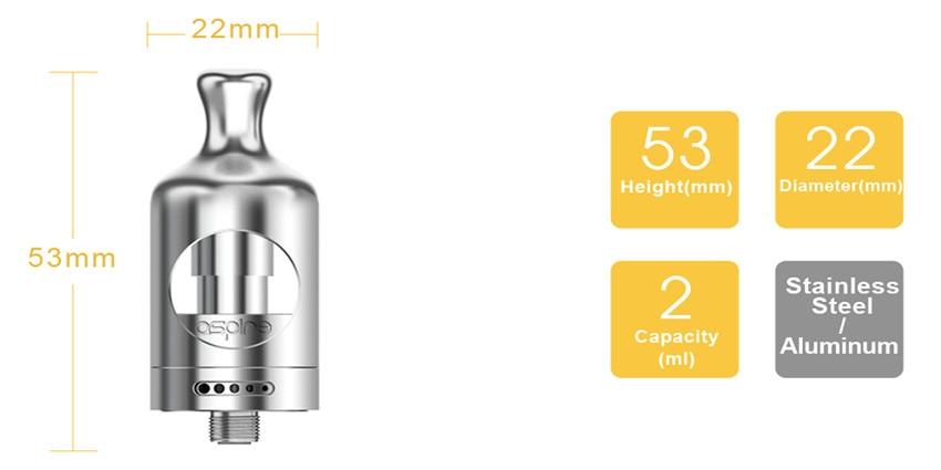 E cigarette Aspire Nautilus 2 MTL Atomizer Electronic Cigarette Tank with Nautilus 0.7 ohm 1.8ohm BVC Coils Vape Tank Vaporizer 4