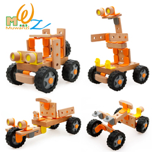 Free shipping wood scale models assemble helicopter or motorcycle or Truck or racing ect, kids toys, Model Building Kits(China)