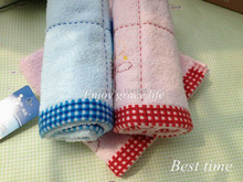 2pcs/lot Free Shipping 2015 Hot Sale Blue, Pink Amusing Design Towels 100% Soft Cotton For Children  Adults Towel 20