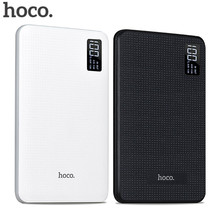 HOCO power bank 30000mAh Portable PowerBank quick Charge power socket three USB Output External Batteries Pack Digital Display(China)