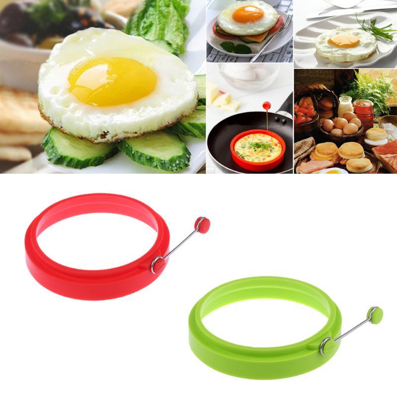 4pcs Red Creative Egg Rings Practical Silicone Egg Pancake Mold Multi Usage Egg Rings Mold