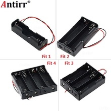 Black Plastic 1x 2x 3x 4x 18650 Battery Storage Box Case 1 2 3 4 Slot Way DIY Batteries Clip Holder Container With Wire Lead Pin(China)
