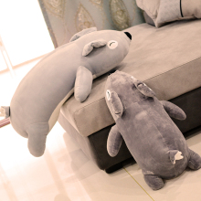 big new lovely plush lying bear toy soft bear doll pillow gift about 85cm(China)
