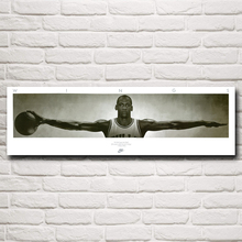 Wings Basketball Star Michael Jordan NO.23 Art Silk Poster Room Decoration Pictures 12x40 18x60 24x80 Inches Free Shipping(China)