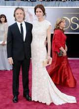 Evening Long 85th Annual Academy Awards Kelley Phleger Cap Sleeves White Lace Oscar Celebrity Red Carpet Dress