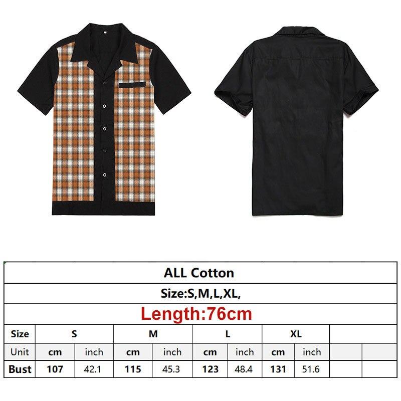 Patchwork Plaid Shirts  (6)