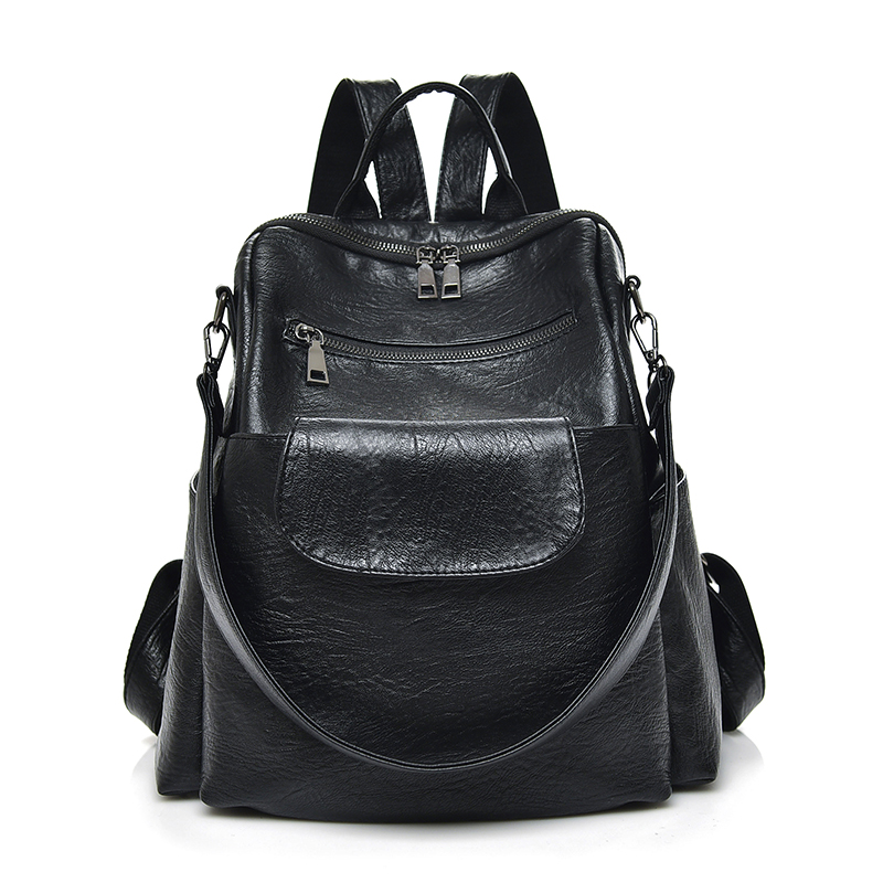 Cloth Shake Women Vintage Backpack For Teenage Girls School Bags Brand Multifunction Practical Shoulder Bag Lady Daypacks<br>