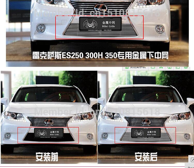 Quality Stainless steel Car front bumper Mesh Grille Around Trim Racing Grills 2013 -2014  for Lexus ES  ES250  300h 350 TOP<br><br>Aliexpress