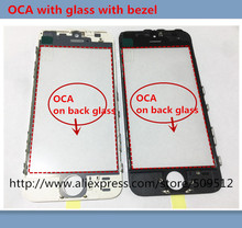 10pcs Good Outer Glass with Bezel with OCA Frame For iphone 6 6s plus 7 7 plus Front Glass+frame +OCA lcd repair part(China)