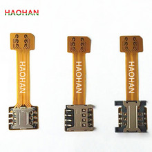 HAOHAN Hybrid Double Dual SIM Card Micro SD Adapter for Android Extender 2 Nano Micro SIM Adapter for XIAOMI REDMI NOTE 3 4 3s