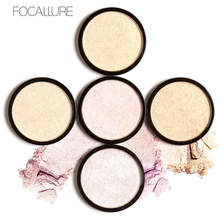 FOCALLURE Brand 5 Colors Illuminator Brighten Shimmer Face Pressed Bronzer Highlighter Powder Easy to Wear Drop Shipping(China)