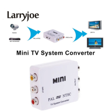 Larryjoe New PAL NTSC SECAM To NTSC PAL TV Video System Converter Switcher Adapter(China)