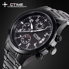 2017 Chronograph Quartz Wristwatch Stainless Steel Men Watch Top Brand Luxury Military Relogio Masculino Waterproof Watches Mens