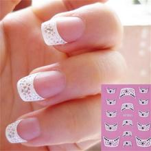 fashion French style Crystal Water Transfer Nails Art Sticker decals lady women manicure tools Nail Wraps Decals(China)