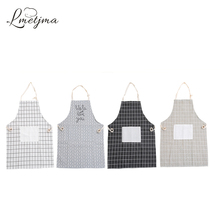 LMETJMA 100% Cotton Kitchen Apron Unisex Cooking Aprons Avental de Cozinha Divertido Sleeveless Apron KC0329-4