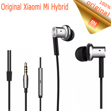 Original Xiaomi Hybrid Earphone Mi In-Ear Earphone Piston with Microphone HiFi Music Player Headset For Xiaomi Android Phones
