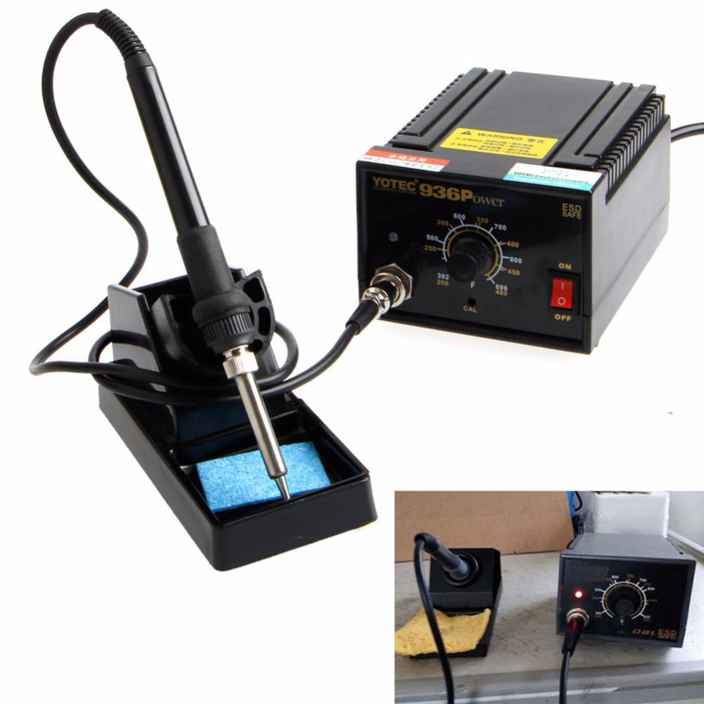 110V 220V 936Power Electric Soldering Station SMD Rework Welding Iron With Stand<br><br>Aliexpress