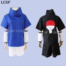 LCSP Japanese Anime NARUTO Uchiha Sasuke Cosplay Costume Clothes Generations Uniform Outfit Top & Pant