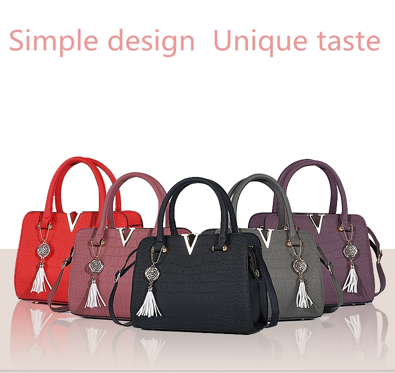 Crocodile Leather Luxury Quality Lady Shoulder Bags 5