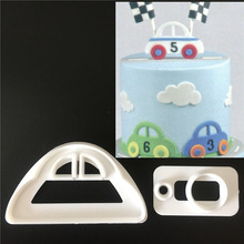 2 pcs/set Cute Car Shape Cake Mold Plastic Sugarcraft Biscuit Mold Cookie Cutting Fondant Cake Decoration Baking Tools