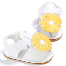 2017 Cool PU Leather Kids Summer White Baby Girls Sandals Shoes Toddler Infant Children Kids Flower Shoes Hot chaussure fille