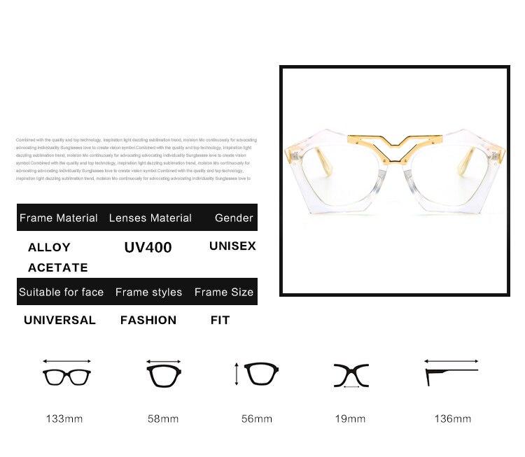 Optics Rimless Lady New Oversized Famous Brand Designer Transparent Sun Glasses women Sunglasses Gradient elegant