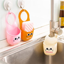 Xuueqin Eye Pattern Kitchen Organizer Draining Basket Hanging Gadget Drain Storage Bag Bathroom Panda Figure Faucet Sink