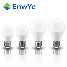 EnwYe LED Bulb Lamp E27 3W 6W 9W 12W 220V Smart IC Real Power Cold White/Warm White Lampada Ampoule Bombilla LED(China)