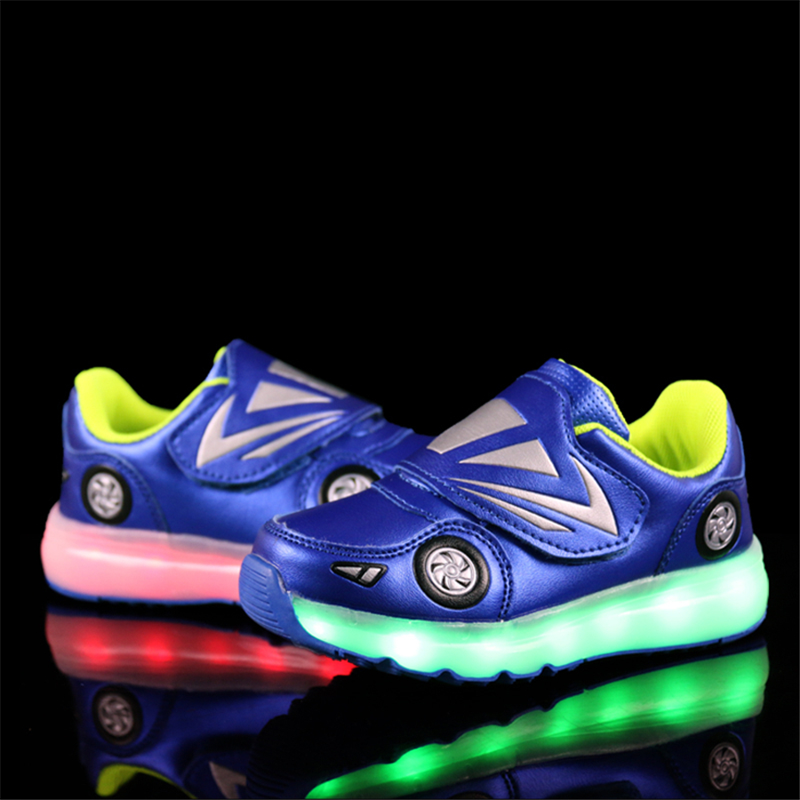 Lights Kids Sport Shoes Charging Usb Charge Shoes Tenis Led Feminino Kids Sneakers Led Lights Footwear Breathable 50Z0026<br>