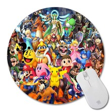 Game animation Mouse Pad Small Size Round Mouse Pad Non-Skid Rubber Pad