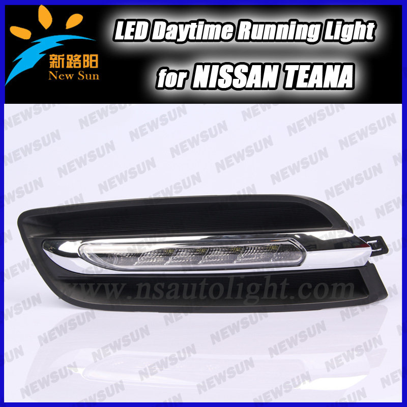 Wholesale car drl day driving lights for Nissan 6 leds white super bright led day time running light for Teana<br><br>Aliexpress