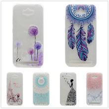 Transparent TPU Cover For Asus Zenfone Max ZC550KL Case Fashion Tower bike Butterfly Girl Feather Design Mobile Phone Case