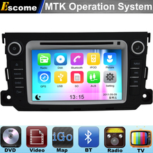 MTK3360 Car DVD Automotivo For Mercedes Benz Smart Fortwo 2012 2013 2014 with Bluetooth Radio GPS Navigation(China)