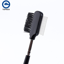 Black Dual Purpose Eyelash Extension Device Beauty Supplies Brow Brush Lash Comb Makeup Tool