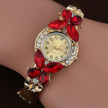 2018 Wrist Watch Women Women Crystal Rhinestone Butterfly Bracelet Quartz Watch Wristwatch Montre Femme Relogio Feminino(China)
