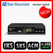 SKYSAT S2020 Twin Tuner IKS SKS ACM IPTV M3U Xtream-code H.265 Satellite Receiver most stable server for South America Europe(China)