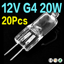 AE 12V 20 Watt G4 Base Clear Tungsten Halogen JC Type Mini Lamp Light Blubs x20 EB6462