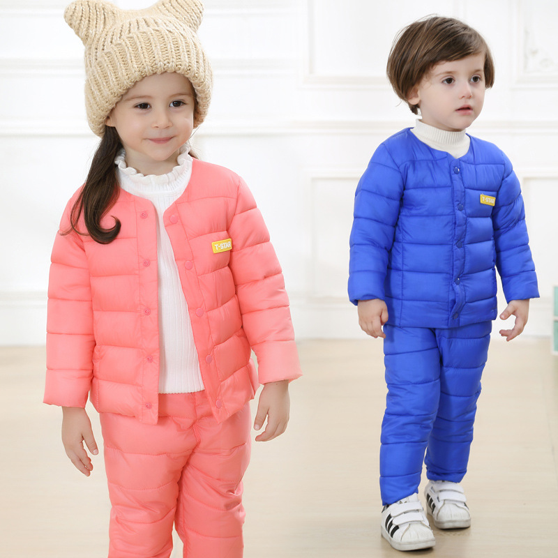 Grandwish Winter Boys Letter Sets Girls Warm Down Suit Kids Autumn Coats+Pants Sets Children Thick Button Suits18M-6T, SC509<br><br>Aliexpress