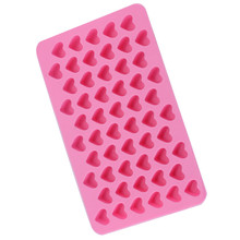 55 Cell Silicone Chocolate Ice Candy Lolly Mold Mould Maker Love Heart Design Rectangle Cube Soap Kitchen DIY Cooking Tools(China)