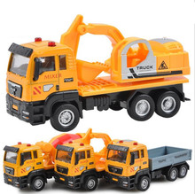 JMT 1:55 Simulation Slide Engineering Vehicles Alloy Garbage / Concrete / Dump Trucks Toy Vehicle for Boys Car Module Gift(China)