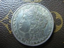 1882-CC morgan dollar silver coin(China)